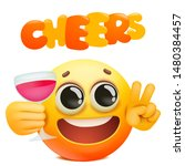 cheers emoticon card with... | Shutterstock .eps vector #1480384457