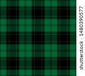Green And Black Tartan Plaid...