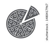 pizza icon isolated on white...