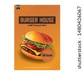 burger promotion flyer  for ... | Shutterstock . vector #1480426067