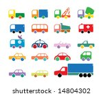 simply car icons. toy editions | Shutterstock .eps vector #14804302
