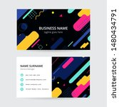 memphis colorful business card  ... | Shutterstock .eps vector #1480434791