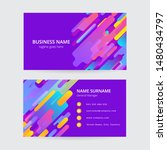 memphis colorful business card  ... | Shutterstock .eps vector #1480434797