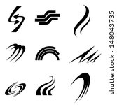 icon symbol curves. vector... | Shutterstock .eps vector #148043735