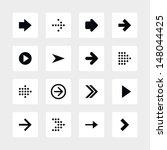 16 arrow sign icon set 01....