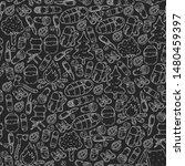 camping doodle set. vector... | Shutterstock .eps vector #1480459397
