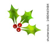 christmas berries. merry... | Shutterstock .eps vector #1480465484