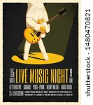 live music night party poster... | Shutterstock .eps vector #1480470821