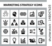marketing strategy icons vector | Shutterstock .eps vector #148047635