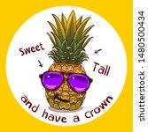 cartoon pineapple illustration... | Shutterstock .eps vector #1480500434