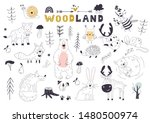 the linear vector children's... | Shutterstock .eps vector #1480500974