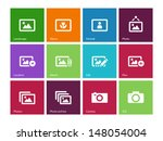 photographs and camera icons on ...