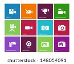 camera icons on color...