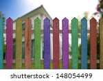 Colorful Fence With Beautiful...