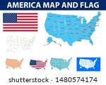united states map vector... | Shutterstock .eps vector #1480574174
