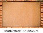 Blank Board With Brick Frame