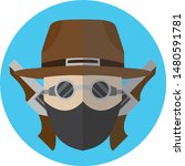 cowboy wearing glasses with... | Shutterstock .eps vector #1480591781
