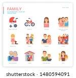 family icon set for web design  ...   Shutterstock .eps vector #1480594091