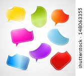 vector set of colorful stickers ... | Shutterstock .eps vector #148063355