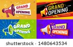 grand opening banners.... | Shutterstock .eps vector #1480643534