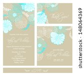 wedding invitation  thank you... | Shutterstock .eps vector #148064369
