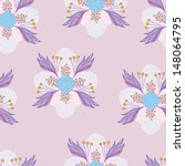 colorful floral seamless... | Shutterstock .eps vector #148064795