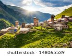 view of the village adishi.... | Shutterstock . vector #148065539