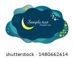 night sky with stars and moon.  ... | Shutterstock .eps vector #1480662614