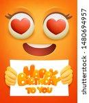 happy birthday card template... | Shutterstock .eps vector #1480694957