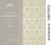 beautiful damask invitation... | Shutterstock .eps vector #148070021