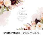 Moody Boho Chic Wedding Vector...