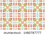 colorful mosaic seamless... | Shutterstock . vector #1480787777