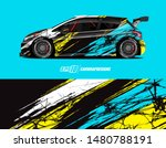 car wrap decal design concept.... | Shutterstock .eps vector #1480788191