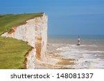 Chalk Cliff At Beachy Head Near ...
