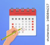 appointment calendar annual... | Shutterstock .eps vector #1480846217