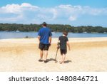Father And Son Metal Detecting...