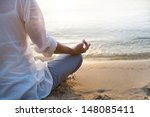 woman meditating | Shutterstock . vector #148085411