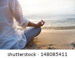 woman meditating | Shutterstock . vector #148085411