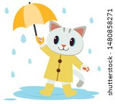 the character of cute cat wear... | Shutterstock .eps vector #1480858271