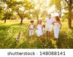 happy young family spending... | Shutterstock . vector #148088141