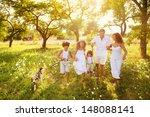 happy young family spending... | Shutterstock . vector #148088141