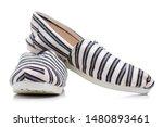 Stock photo female espadrilles shoes on white background isolation 1480893461