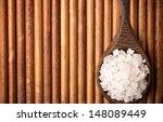natural bath salt wooden spoon  ...   Shutterstock . vector #148089449