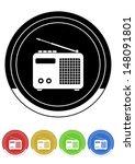 radio button retro colors | Shutterstock .eps vector #148091801