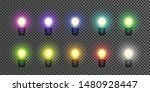 set of multicolored glowing...   Shutterstock .eps vector #1480928447