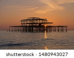 Brighton's Ruined West Pier At...