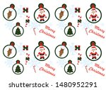 christmas pattern with... | Shutterstock .eps vector #1480952291