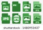 jpg file icon set vector logo...