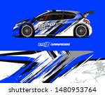 car wrap decal design concept.... | Shutterstock .eps vector #1480953764