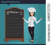 menu sign at restaurant chef... | Shutterstock .eps vector #1480972721